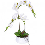 15009-NT Дек/цветы Белая орхидея в кер/вазе(х6)