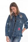 Женская куртка джинсовая 2501354
