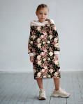 Платье с капюшоном Бабочки в летних цветах 1