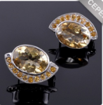 Серьги серебро с цитрином Месяц ссНЦТ-9299-КВМ Артикул: ссНЦ