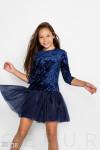 Велюровое детское платье