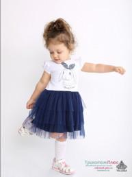 Платье детское Фиалка (кулирка с лайкрой+сетка)