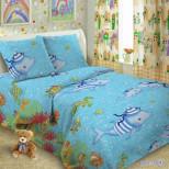 Детское постельное белье Океан 1,5 сп. поплин