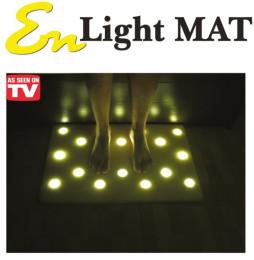 Коврик с подсветкой для пола с 16 светодиодными светильникам
