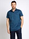 Мужские льняные рубашки БАТАЛ св.синий