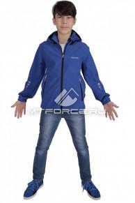 Куртка ветровка подростковая для мальчика синего цвета 034-2