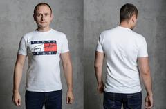 """Футболка Мужская 2202 """"TOMMY"""" Белая"""