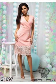 Облегающее платье с кружевом - 21697