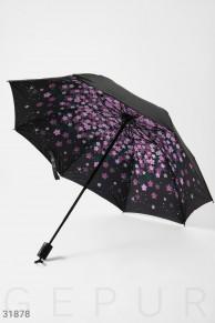 Двухцветный компактный зонт