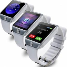 Умные часы Smart Watch DZ09, серебро на белом ремешке