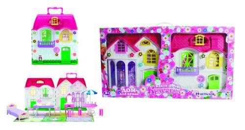 Т565861toy Красотка дом для кукол с меб.,2 секции,28 дет, к