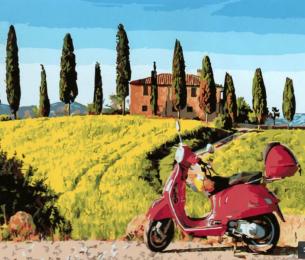 Картина по номерам GX 5897 Скутер в Тоскане 40*50