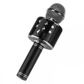 Беспроводной караоке микрофон WS-858-розовый,черный,золотой