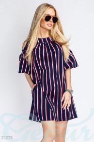 Платье oversize полоска