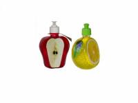 FLAT гель для мытья посуды (флакон-фрукты ) Красное ЯБЛОКО