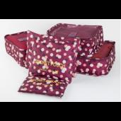 Набор 6 чехлов Secret Pouch ПРЕМИУМ Бордовые цветы