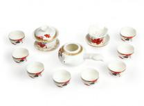 """Чайный набор из 11 предметов """"Магнолия"""" (фарфор)"""