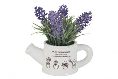 Декоративные цветы Букетик сиреневый в лейке без инд.упаковк