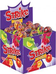Карамель на палочке Strike с жевательной конфетой, 11,3 г (у