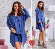 комплекты Одесса ##626 Тройка  Кардиган,блуза и шорты