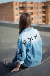 Женская джинсовая куртка Мом 03- 016