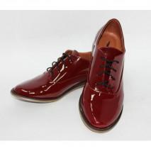 Лаковые кожаные туфли арт. 05-6