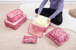 Набор 6 чехлов Secret Pouch ПРЕМИУМ Розовые цветы