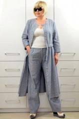 Комплект: Платье-кардиган + Брюки 1644-2+1657