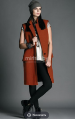 Пальто  Модель 11/6-Б терракотовый Rosheli   Производитель: