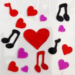 Аппликация декоративная Magic Gel Сердечки
