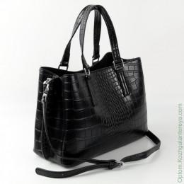 Женская кожаная сумка 88301 Крок-Черный