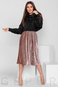 Бархатная юбка-плиссе