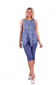 Домашний костюм К 71/1 (джинса+цветные звезды)