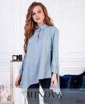 Рубашка №6169-Голубой