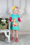 Платье КРОЛИК с длинным рукавом - 3 цвета
