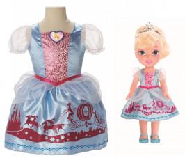 Jakks Pacific Нарядное платье для девочки + кукла Золушка