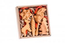 Набор деревянных елочных игрушек Томик