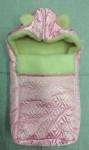 Прогулочный мешок Ушки атлас-мех