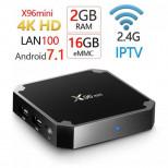 ТВ приставка X96 Mini Amlogic S905W 2/16 Гб с внешним ИК при