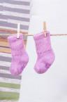 Носки детские из шерсти розовые, Монголия