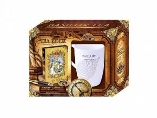 """Чайный набор BASILUR: """"Чайная книга"""" и витражная кружка"""