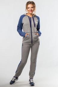 Спортивный костюм Комфорт (серо-синий)