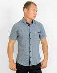 Молодежная серая рубашка Amato модель 17KG16021