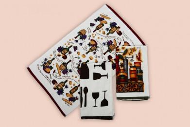 Полотенца кухонные набор 3шт