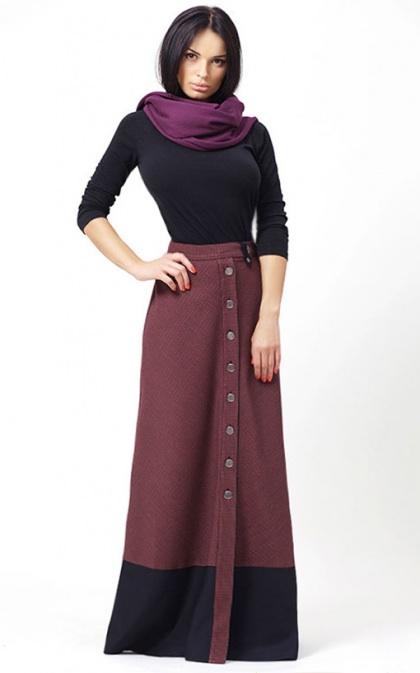 Фото зимние длинные юбки