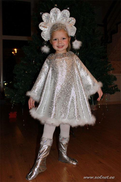 Новогодний костюм зимушки своими руками