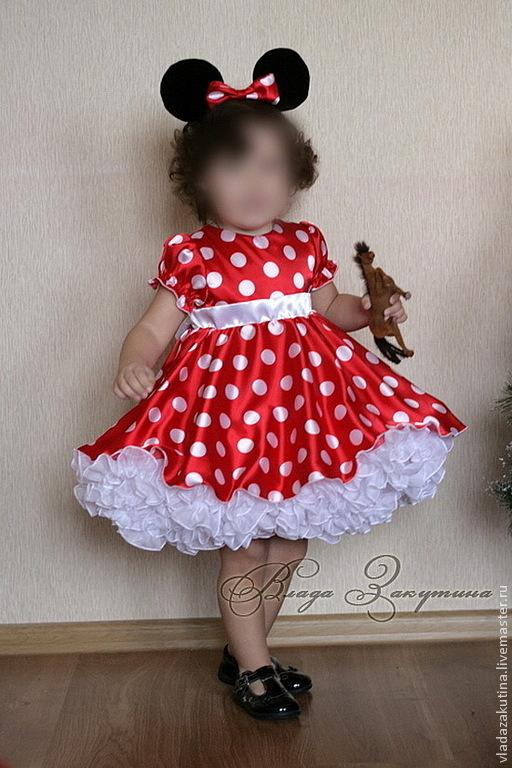 Купить Платье Минни Маус Для Девочки
