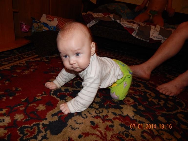 Косте 6-месяцев, на ИВ с 3 недель. Ещё раз про миф! Не правда, что ребёнок развивается хуже!