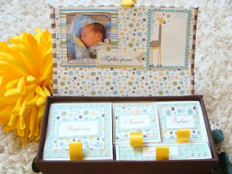 Коробочка своими руками для новорожденного 82