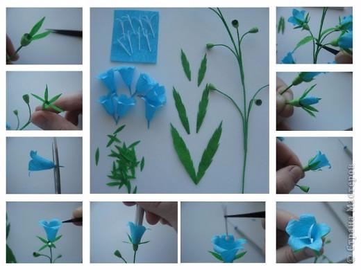 Поделки цветка колокольчик